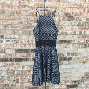 Junior's Halter Dress Black with Silver Size 3